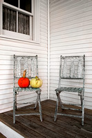 Pumpkins and Chairs