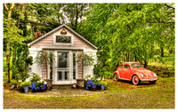 Cottage with Pink VW