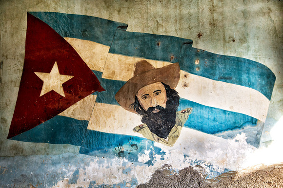 Cuban Flag with Che, Havana